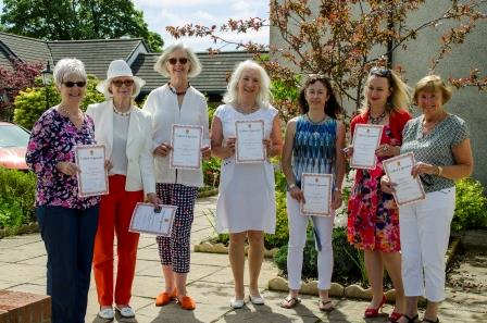 l-r: Sharon Russell, Shirley Duncanson, Judy Cooper, Monica McGee, Fiona Clarke, Lucy Harrison-Milne and Margaret Lodge from St Vincent's Hospice Bridge of Weir shop