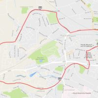 Paisley 10k 2016 route - street closure list and map