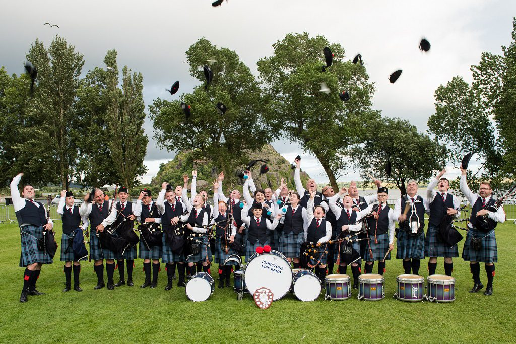 Grade 4 Band celebrating after being crowned Scottish Champions Pictures  taken by John Shaw