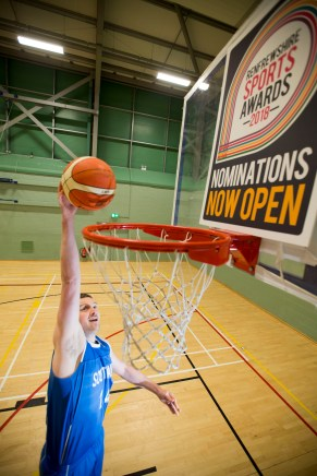 24/04/18.. PAISLEY… Bastketball player Chris Cleary