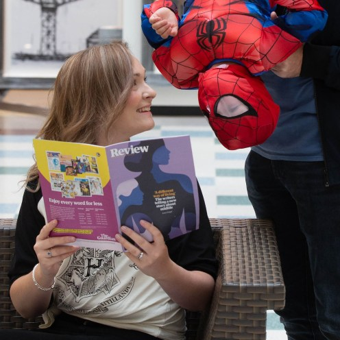 "FREE FIRST USE Pictures Pictured Mum Judy Muldoon and Spider man son Alisdasir age 3 from Carluke From Macdonald Media on behalf of intu Braehead Shopping Centre To: Press release and free to use photographs for immediate use. Further info from Norman Macdonald on 07958 648814 Thousands turn out for Film and Comic Con event at intu Braehead SHOPPERS must have thought they had walked through the doors of the intu Braehead mall yesterday (Saturday) and landed in a galaxy far, far away. They were met with the sight of characters from all kinds of films, TV shows and comics having a look round the shops. Thousands of sci-fi fans turned out for the Film and Comic Con Glasgow event being held in The Arena at intu Braehead. Many fans were dressed in the costumes of their favourite sci-fi characters and they certainly caught the attention of shoppers in and around the malls. They also flocked to hundreds of stalls set up in The Arena to snap up movie memorabilia and sought-after rare comics. The event continues today (Sunday) when even more fans are expected to come along. Marketing manager for intu Braehead, David Lyon said: ""Where else but intu Braehead would Darth Vader, Stormtroopers, Spiderman and Superman come for a weekend's shopping when they visit planet Earth? ""This Film and Comic Con is one of the most eye-catching events we have at intu Braehead and we look forward to it every year. ""Shoppers just love to see the fans dressed in their amazing costumes and you just never know who you're going to bump into!"" ends Mark F Gibson / Gibson Digital infogibsondigital@gmail.co.uk www.gibsondigital.co.uk All images © Gibson Digital 2018. Free first use only for editorial in connection with the commissioning client's press-released story. All other rights are reserved. Use in any other context is expressly prohibited without prior permission."