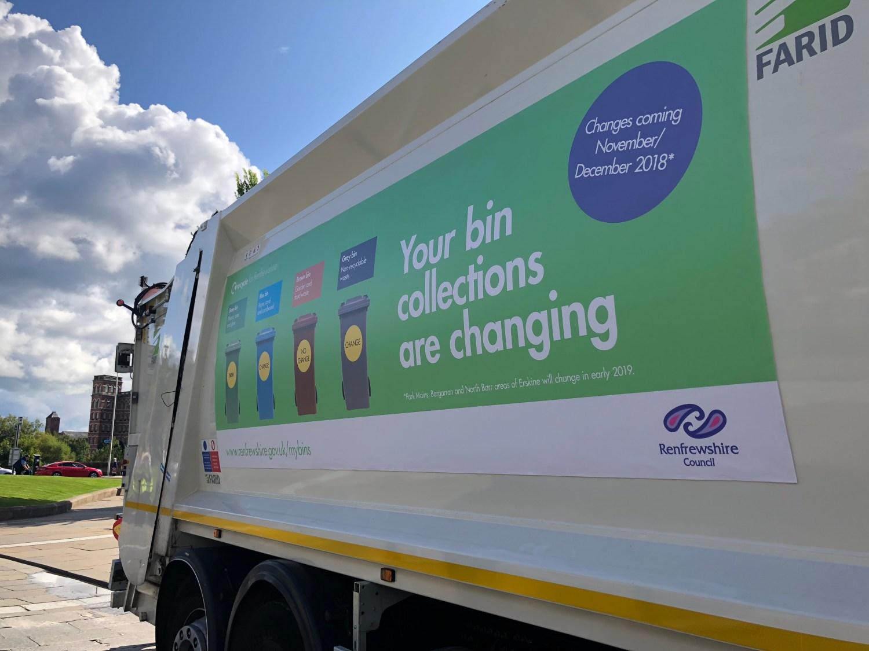 renfrewshire bin lorry
