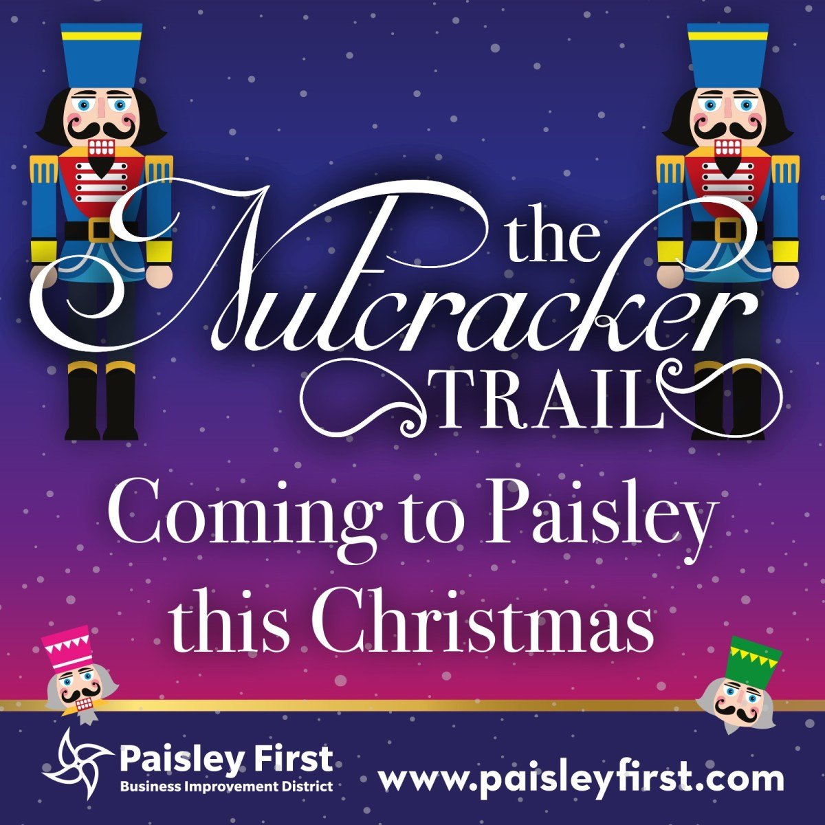 Free Festive Nutcracker Trail returns to Paisley town centre!