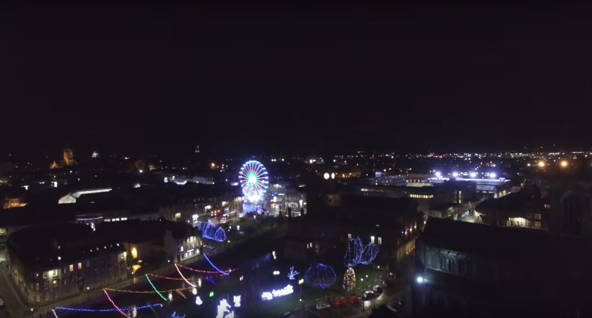 Drone footage of Paisley