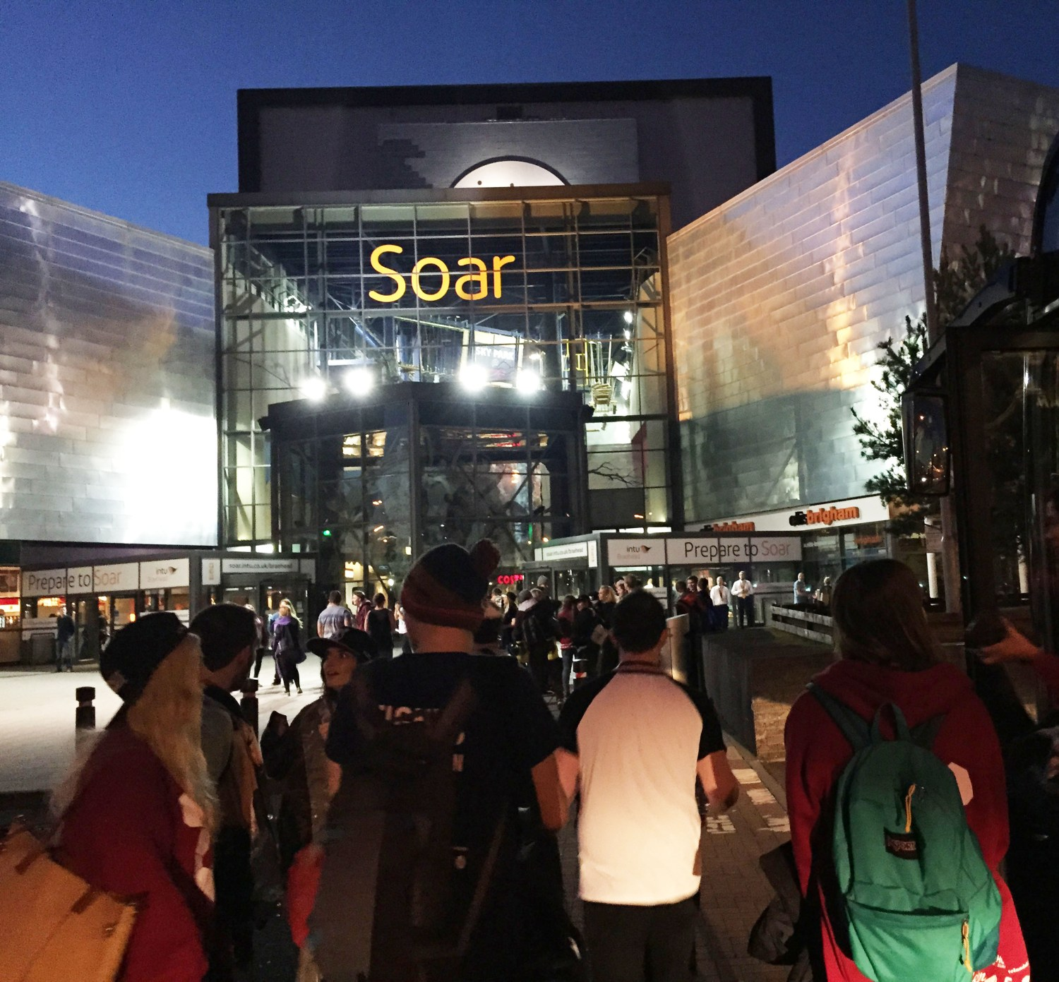 Soar at intu Braehead external