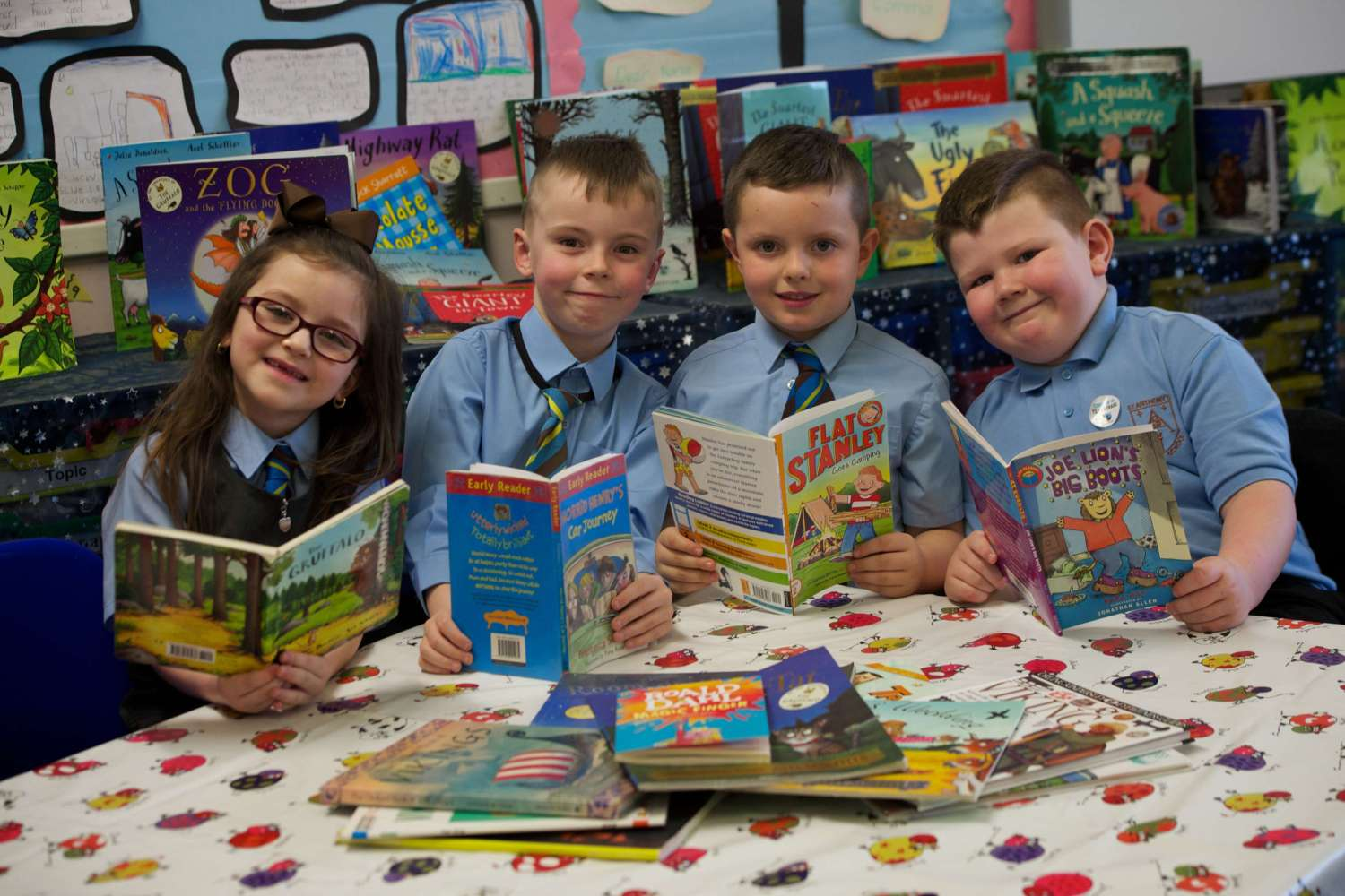St Anthony's Primary 2 Pupils - Olivia Regan, Jack McLaughlin, David Baird and Corey Jamieson