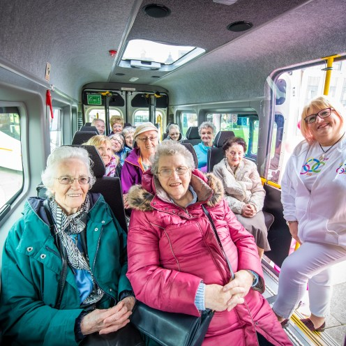 Sally Logan with sheltered housing residents from Renfrewshire