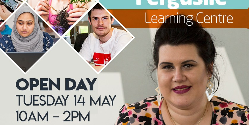 Social Media Advert - Ferguslie Learning Centre - May Open Day