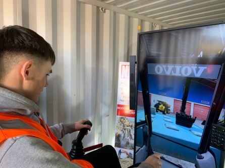 Liam Donnelly using the demolition simulator-2
