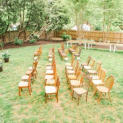 Chair Cover Rentals Washington Dc Glider Chairs For Nursery Beautiful Backyard Wedding Lauren Drew Say I Do In Rva Sweet And Charming With Specialty Vintage By Paisley Jade