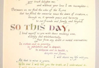 Gothic Wedding Vows