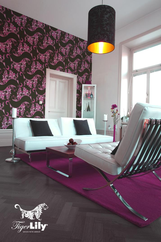 Tiger Lily wallpaper tapet Peter Mäkelä petermakela