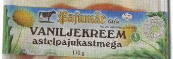 """Märk """"Parim Toiduaine 2008"""" – Pajumäe talu mahe vaniljekreem astelpaju kastmega"""