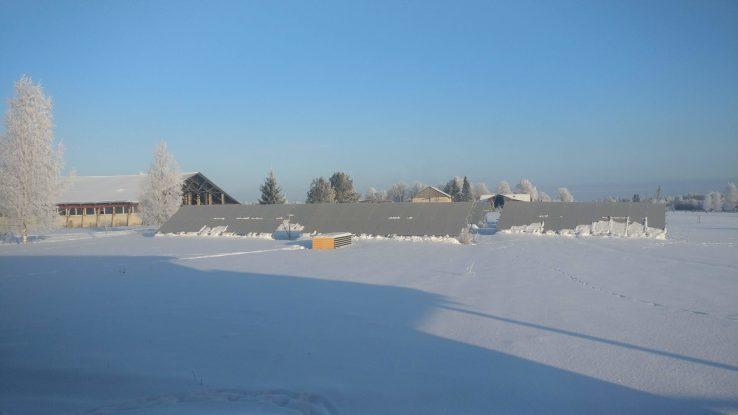 Päikesepaneelid talvel