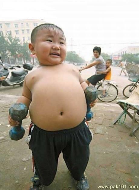 Cute Pakistani Babies Wallpapers Funny Picture Weight Lifter Child Pak101 Com