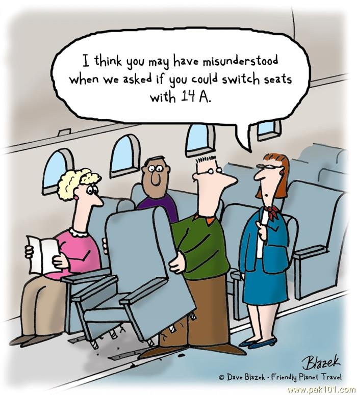 funny picture switching seats
