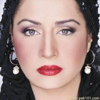 Atiqa Odho deep red lipstick