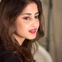 Sajal Ali deep red lipstick