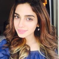Soniya Hussain in blue dress