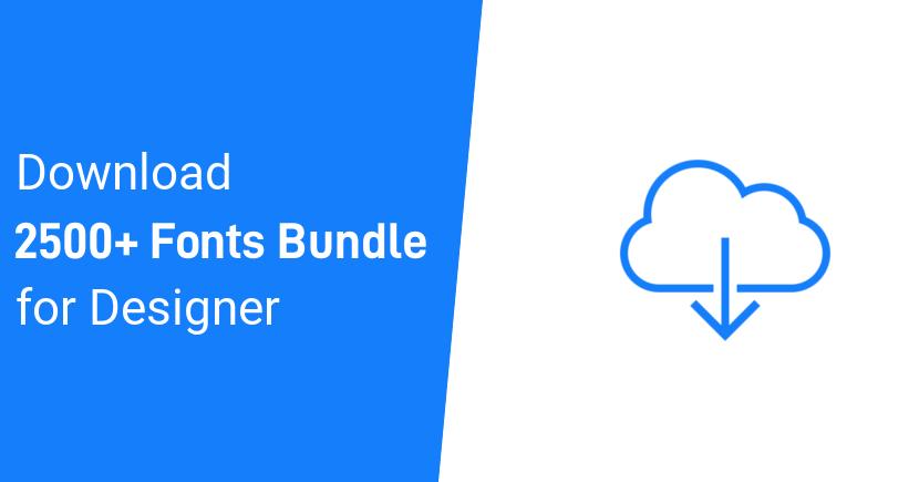 Download 2500+ Fonts Bundle Download | Free Fonts Pack For Designer ...