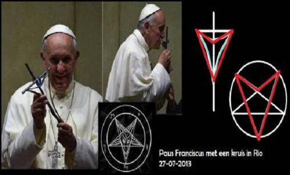 The New Cross Pope Francis Displays Contains Satanic Symbolism!