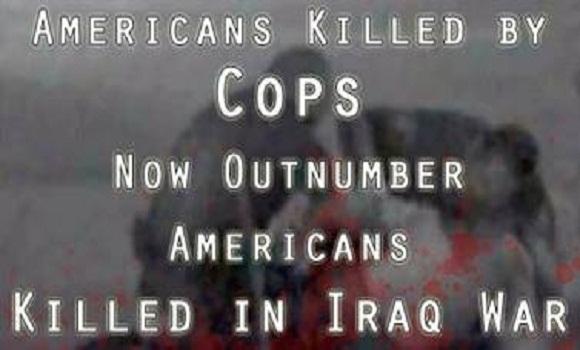 Estadounidenses muertos por policías son más numerosos que los estadounidenses muertos en la guerra de Irak