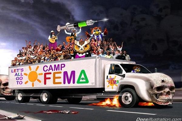 Whistleblower Campos del FEMA Going ciudadanos de los EE.UU. Viviendas activos por fuerza Tomado