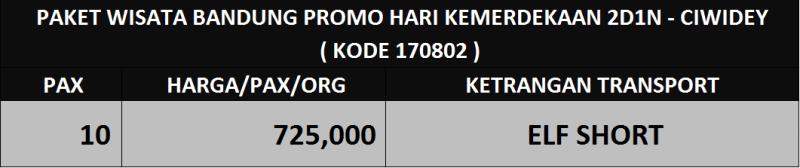 harga paket wisata bandung promo kemerdekaan