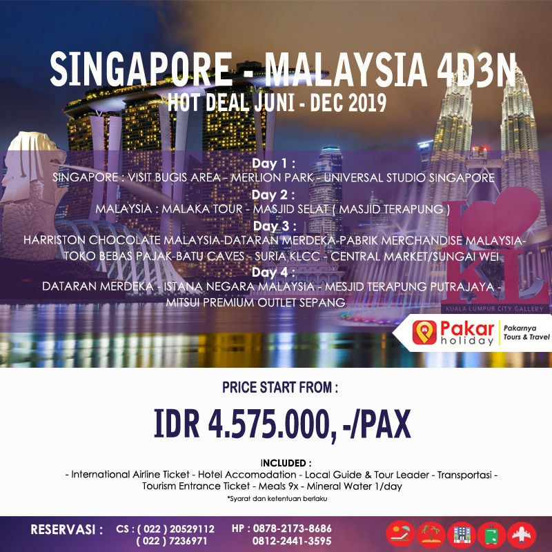 open trip singapore-malaysia 4d3n