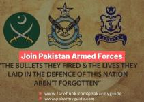 Join Pakistan Armed Forces