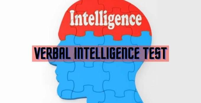Verbal Intelligence test