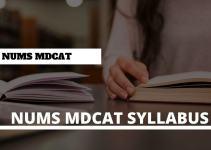 NUMS MDCAT Syllabus