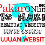 Menentukan tujuan website bisnis
