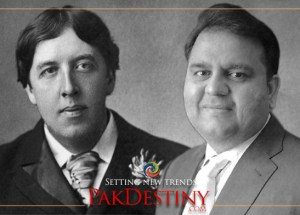 oscar wilde,fawad chaudhry,From spewing venom against Sharifs and Zardaris to quoting Oscar Wilde for his new job... Fawad Chaudhry appears in new role in old drama