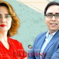 Shahbaz Gill and anchor Ghareeda Farooqi wrangling with each other over Lafafa journalism