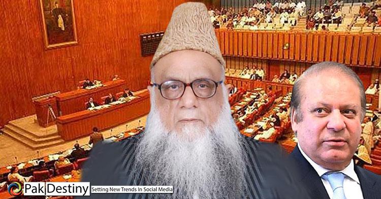 Nawaz buys a religious party with one Senate ticket, jamiat ahle hadith prof sajid mir