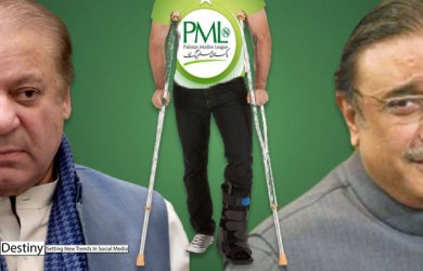 NAWAZ SHAREEF NEEDS CRUTCHES OF ASIF ZARDARI