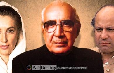 viral video of Benazir and Nawaz with Ghulam Ishaq