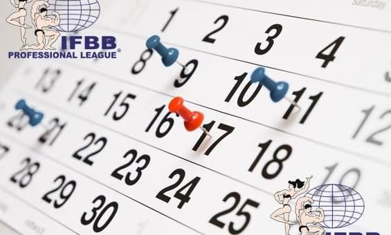 Kalendarz zawodów IFBB 2018 kulturystyka i fitness