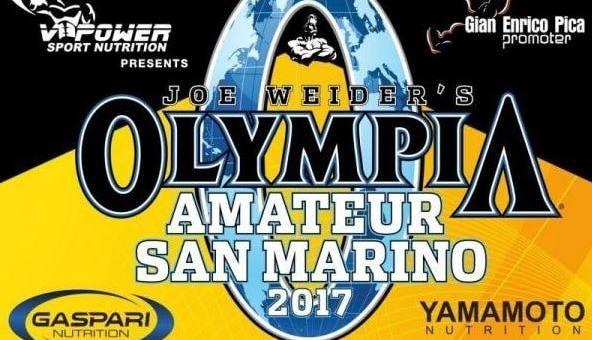 Zawody kulturystyka San Marino Pro 2017 + zawodnicy