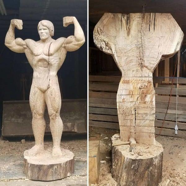 prace nad dzielem Arnold Schwarzenegger