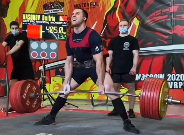 Dmitrij Nasonov martwy ciąg 405 kilogramów