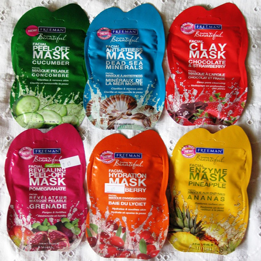 Custom laminated packaging for flavored face masks.