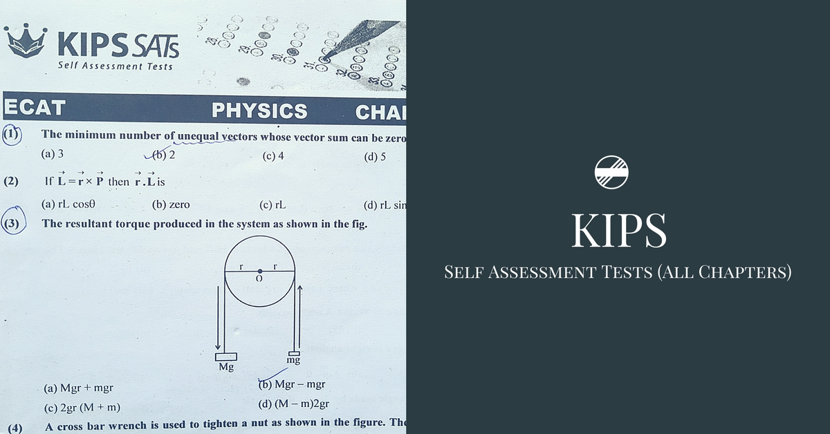 KIPS Physics Self Assessment Tests With Answers (All Chapters) PDF