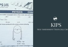 KIPS Physics Self Assessment Tests With Answers (All