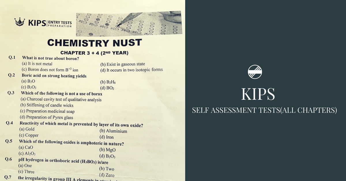 KIPS Chemistry Self Assessment Tests With Answers (All Chapters) PDF