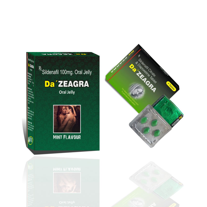 Pack of 2 Da,zeagra Tablets OR Jelly