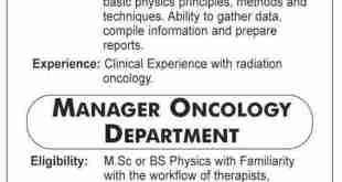 SUIT Karachi Jobs 2019 Advertisement Librarian, Medical Physicist, Manager Oncology