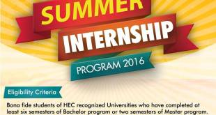 Meezan Bank Summer Internship Program 2018 Online Apply Last Date Advertisement