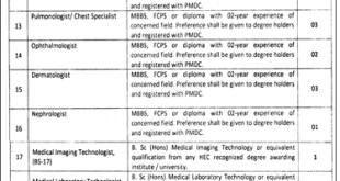 Primary And Secondary Healthcare Department Punjab Jobs 2019 Form Advertisement
